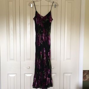 Sue Wong Velvet Flower Long Dress